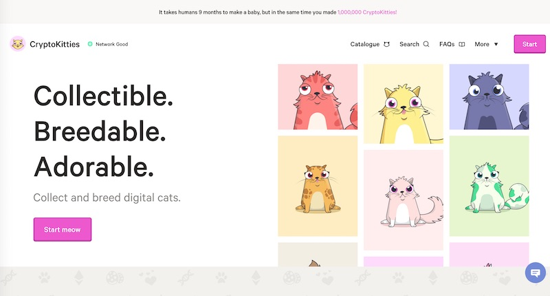 Plataforma CryptoKitties